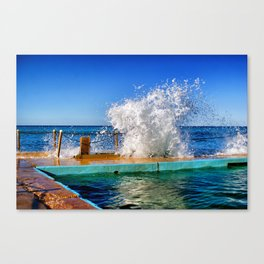 Poolside Splash Canvas Print