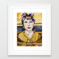 minnie Framed Art Prints featuring Minnie by Andrea Schoedel