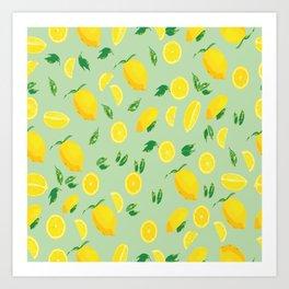Cottage Core Art   Lemon Pop Art Print