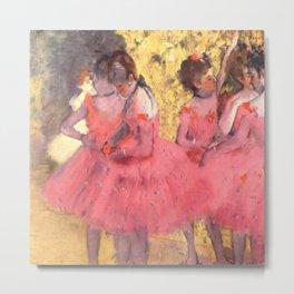 Degas: The Pink Dancers Metal Print