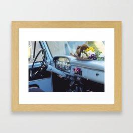 Vintage Ford Interior Cab Framed Art Print
