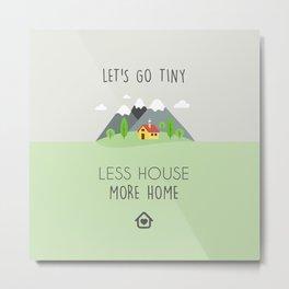Tiny House Illustration Metal Print