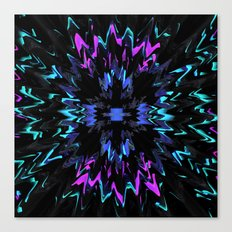 black, purple and blue waves and strips an elaborate pattern in strong Faben Canvas Print