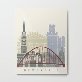 Newcastle skyline poster Metal Print