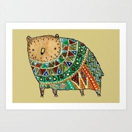 Aztec Bear Art Print