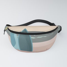 Waiting For The Perfect Wave Surf Spot Minimalistic Graphic Fanny Pack