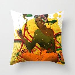 Essentia.Yellow Throw Pillow