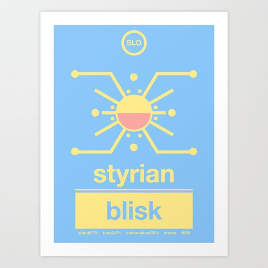 styrian blisk single hop Art Print