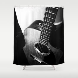 Guitar S-W Shower Curtain