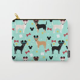 Chihuahua theme park lover dog breed pattern gifts Carry-All Pouch