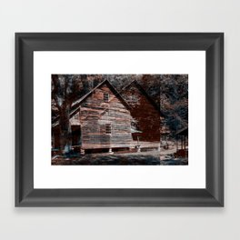 A House In The Mountains Framed Art Print