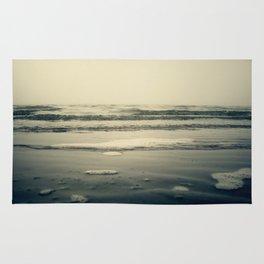 Silver Waves in Morro Bay, California Rug