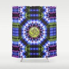 Om Shanti Fractal Geometry series #1 Shower Curtain