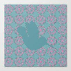 pattern with hummingbird 2 Canvas Print