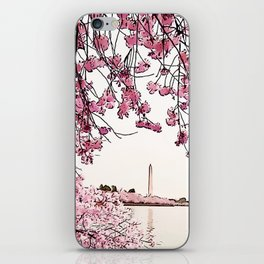 Washington Monument Amid Cherry Blossoms iPhone Skin