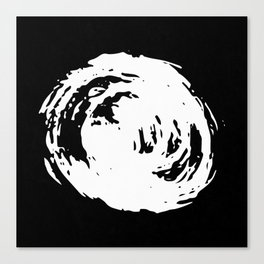 Whorl Black and White Canvas Print