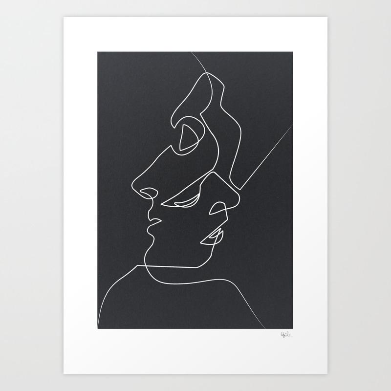 Close Noir Art Print by quibe