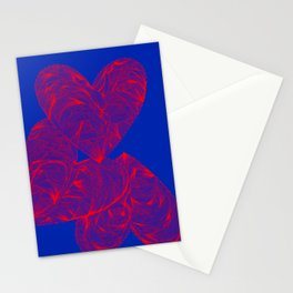 three hearts Stationery Cards