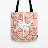 technology Tote Bags featuring technology by daniel