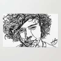 harry styles Area & Throw Rugs featuring Harry Styles by Hollie B