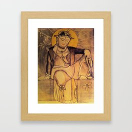 Budha Women Framed Art Print
