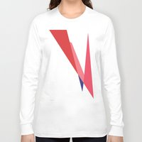 bowie Long Sleeve T-shirts featuring Bowie by Paola Fischer