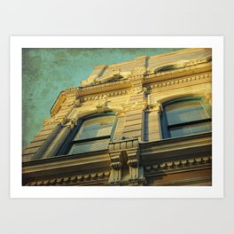 A Golden Facade Art Print