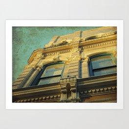 A Golden Facade Art Print
