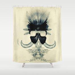 A black angel from Aksoum Shower Curtain