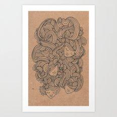 Heads in the Cloud Art Print