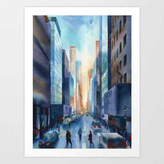 New York. Streets Art Print