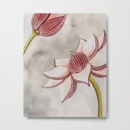 Mauve Lotus Metal Print