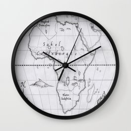 2062: African map Wall Clock