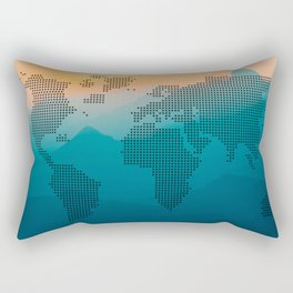 World map mountain Rectangular Pillow