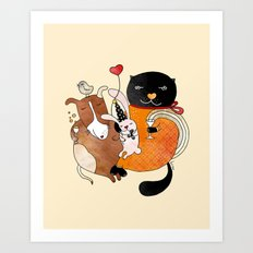 Celebrate Animals Art Print