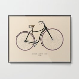 Vintage Rover Safety Bike Metal Print