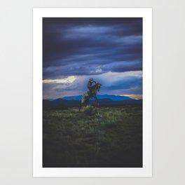 Bucking Horse in Santa Fe Art Print