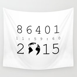 86401 Leap Second 2015 Wall Tapestry