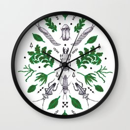 Orienteering insects Wall Clock