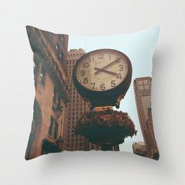 The Sherry Netherland Clock Throw Pillow