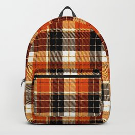 Autumn plaid Backpack