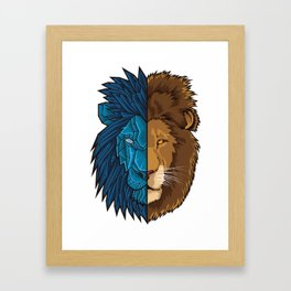 Lion Geometry   King of Jungle   Africa Sahara Framed Art Print