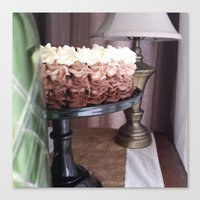 cake Canvas Prints featuring Cake by Pistache and Rose