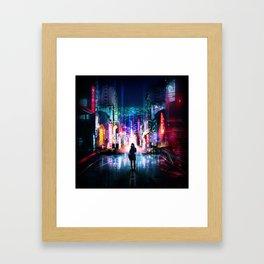 Tokyo Cyberpunk Japan Framed Art Print