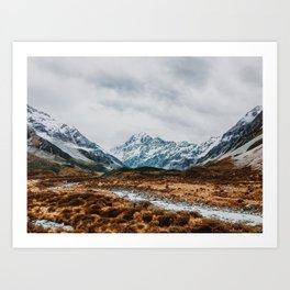 Mount Cook National Park Art Print