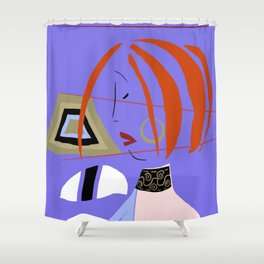 Japanese Profile Shower Curtain