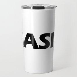 BASIC in Black Travel Mug