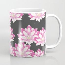 Lotus pattern on dark gray Coffee Mug