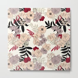 Sweet Floral neutral Metal Print