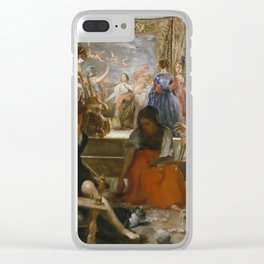 """Diego Velázquez """"Las Hilanderas (""""The Spinners"""")"""" Clear iPhone Case"""